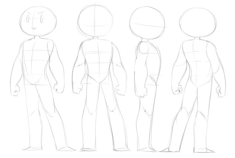 MASCULINE character dropback sheet