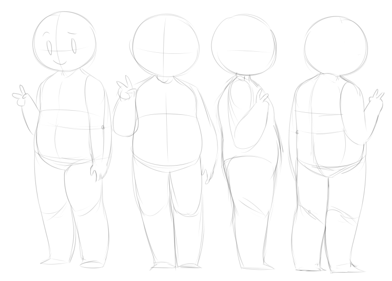 Chubby character dropback sheet